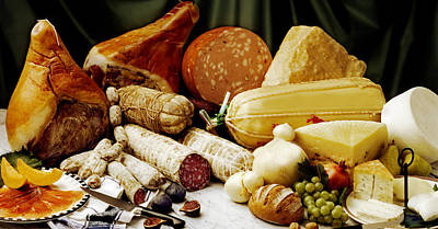 Photograph - charcuterie and cheese from Italy by Selke Boris