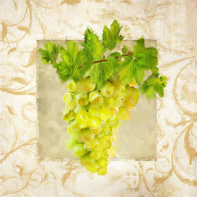 Chardonnay Wine Painting - Chardonnay II by Lourry Legarde