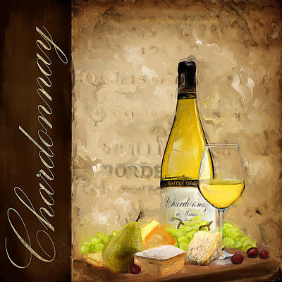 Chardonnay Wine Painting - Chardonnay IIi by Lourry Legarde