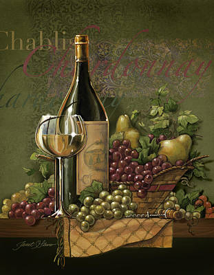 Americana Licensing Painting - Chardonnay by Janet Stever