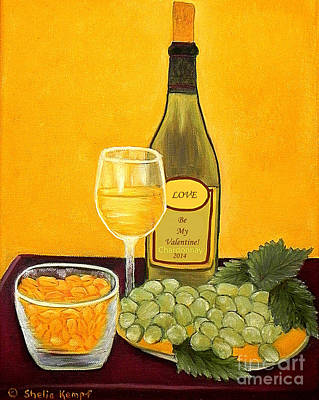 Painting - Chardonnay Nuts Valentines by Shelia Kempf