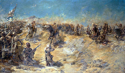 Sudan Painting - Charge Of The 21st Lancers by Edward Matthew Hale