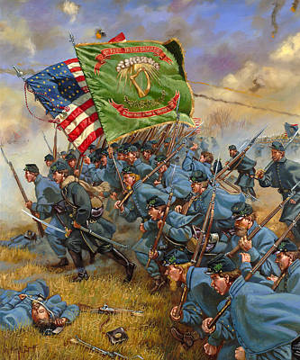 Charge Of The Irish Brigade Original by Mark Maritato