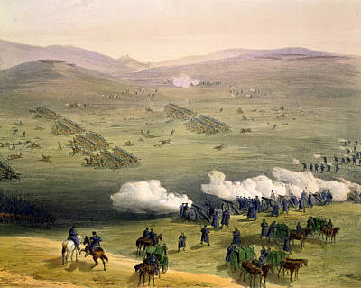 Charge Of The Light Cavalry Brigade Art Print by William 'Crimea' Simpson