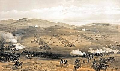 Painting - Charge Of The Light Cavalry Brigade by William Simpson