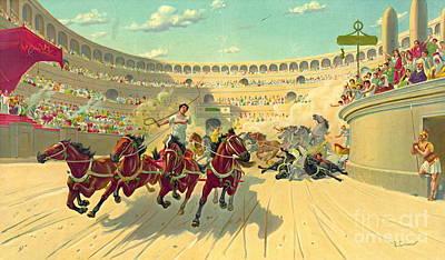 Chariot Race 1840 Art Print