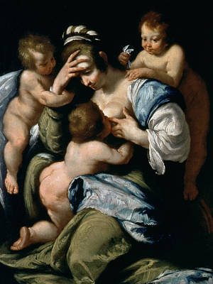 Suckling Painting - Charity by Bernardo Strozzi