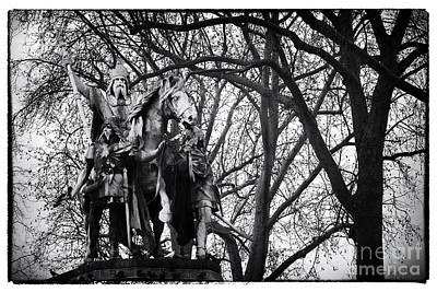 Photograph - Charlemagne At Notre Dame by John Rizzuto