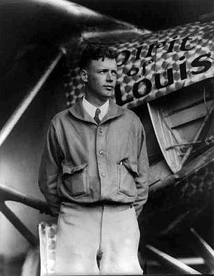 Charles A Lindbergh Spirit Of St. Louis  Art Print by Unknown