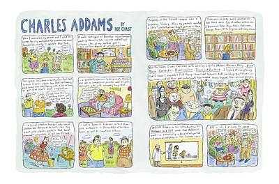 Discovered By His Parents Drawing - Charles Addams by Roz Chast
