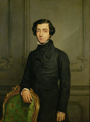 Charles-alexis-henri Clerel De Tocqueville 1805-59 1850 Oil On Canvas Art Print by Theodore Chasseriau