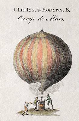 Jacques Photograph - Charles And Roberts' Balloon by Paul D Stewart