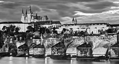 Charles Bridge And Prague Castle / Prague Art Print by Barry O Carroll