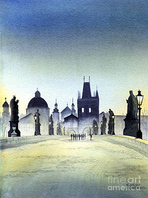 Czech Republic Painting - Charles Bridge by Bill Holkham