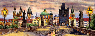 Charles Bridge Art Print by Dmitry Koptevskiy