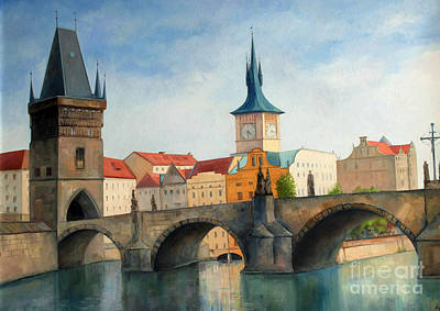 Charles Bridge Art Print by Igal Kogan