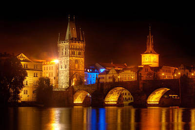 Charles Bridge Digital Art - Charles Bridge II- Prague by John Galbo