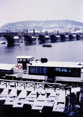 Charles Bridge In Winter Art Print by Alexander Kurganov