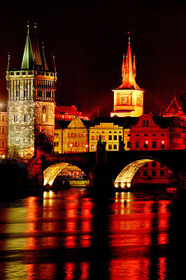 Charles Bridge Digital Art - Charles Bridge by John Galbo