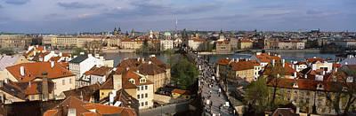 Prague Czech Republic Photograph - Charles Bridge Moldau River Prague by Panoramic Images