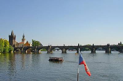 Sk Stones Photograph - Charles Bridge Of Prague From The Vltava River Cruise by Jeff at JSJ Photography