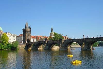 Sk Stones Photograph - Charles Bridge Of Prague On A Clear Day by Jeff at JSJ Photography