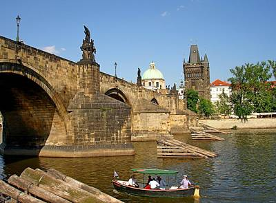 Sk Stones Photograph - Charles Bridge Of Prague On A Sunny Day by Jeff at JSJ Photography