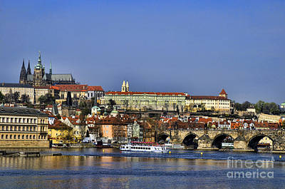 Photograph - Charles Bridge Over River Vltava by Brenda Kean