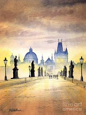 Czech Republic Painting - Charles Bridge Prague by Bill Holkham