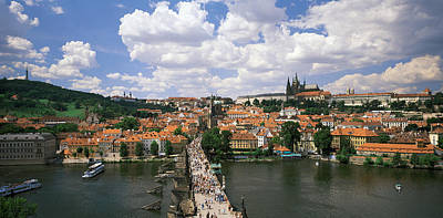 Vltava Photograph - Charles Bridge Prague Czech Republic by Panoramic Images