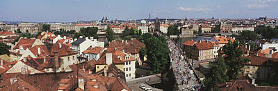 Prague Castle Photograph - Charles Bridge Prague Czechoslovakia by Panoramic Images