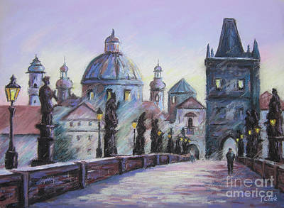 Charles Bridge  Prague Print by John Clark