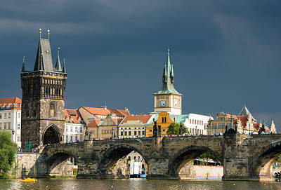 Republic Building Photograph - Charles Bridge Prague by Matthias Hauser