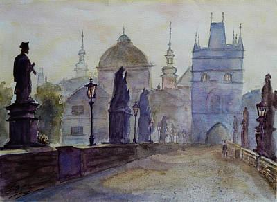 Charles Bridge Prague Art Print by Xueling Zou