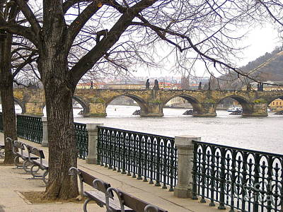 Photograph - Charles Bridge  by Suzanne Oesterling