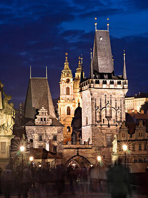 Photograph - Charles Bridge Tower / Prague by Barry O Carroll