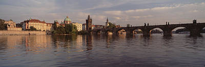 Vltava Photograph - Charles Bridge Vltava River Prague by Panoramic Images