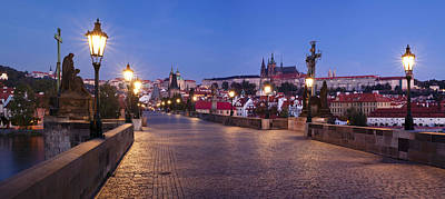 St Charles Bridge Photograph - Charles Bridge With Castle District by Panoramic Images