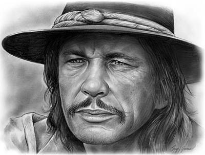 Drawing - Charles Bronson by Greg Joens