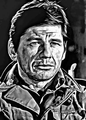 Charles Bronson Painting - Charles Bronson Portrait by Florian Rodarte