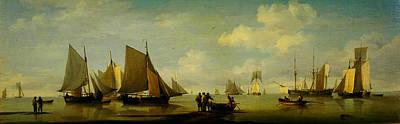 Studio Graphika Literature - Fishing Smacks Becalmed near a Shore by Celestial Images