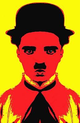Silent Movie Star Mixed Media - Charles Chaplin Charlot Alias by Art Cinema Gallery