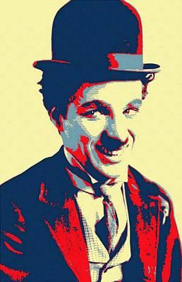 Silent Movie Star Mixed Media - Charles Chaplin Charlot by Art Cinema Gallery