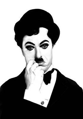 Charles Digital Art - Charles Chaplin by Gina Dsgn