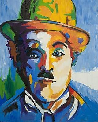 Gustavo Oliveira Painting - Charles Chaplin by Gustavo Oliveira