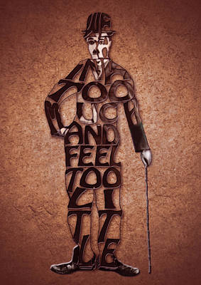Charles Digital Art - Charles Chaplin Quote Typography Art by Georgeta Blanaru