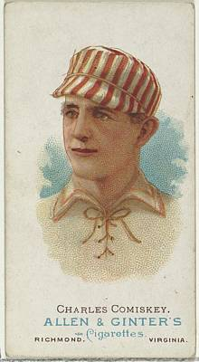 Baseball Cards Drawing - Charles Comiskey, Baseball Player by Allen & Ginter