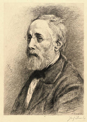 Jozef Israels Drawing - Charles Courtry French, 1846-1897 After Jozef Israëls Dutch by Litz Collection