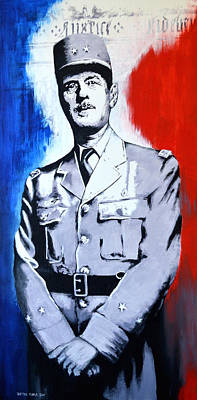 Painting - Charles De Gaulle by Victor Minca