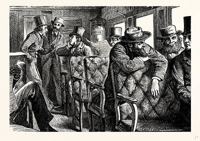 Charles Dickens American Notes 1842 Railway Dialogue Art Print by English School